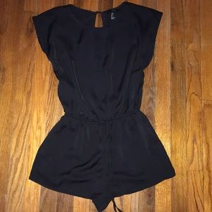 Black romper with open back